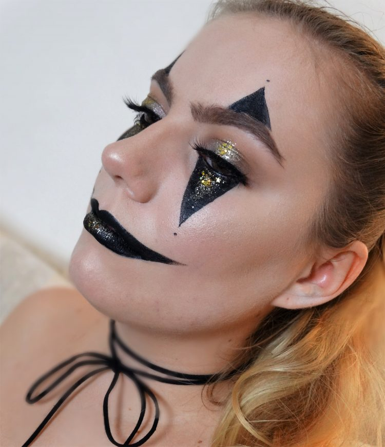 glam clown halloween make-up tutorial