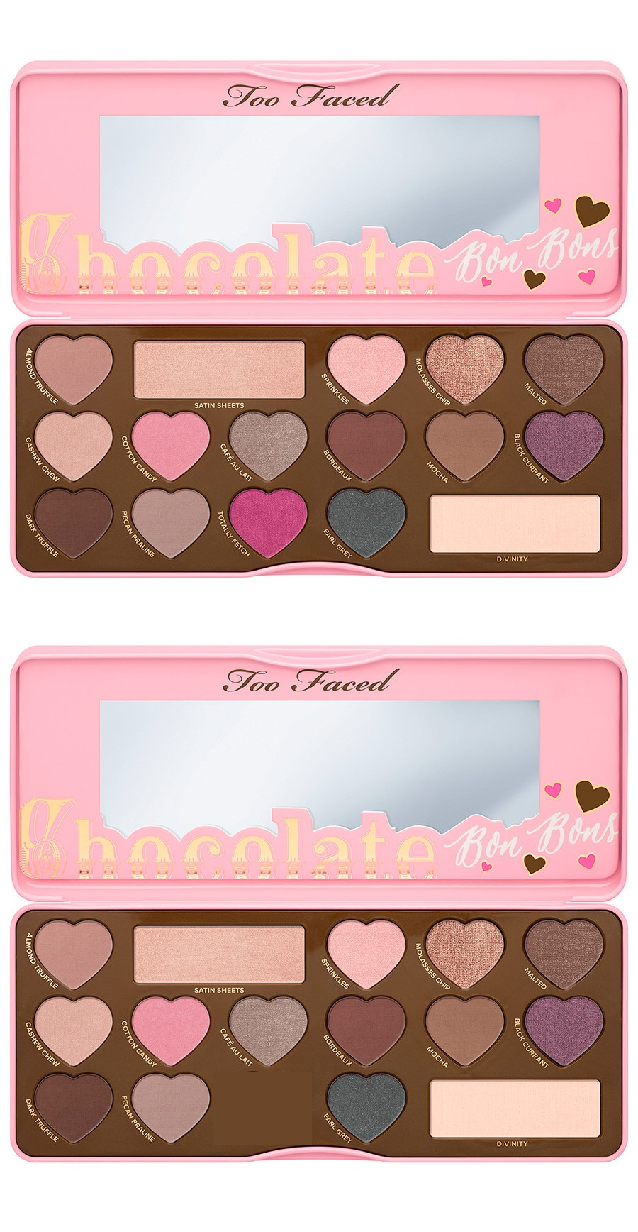 too faced chocolate bon bons pop effect