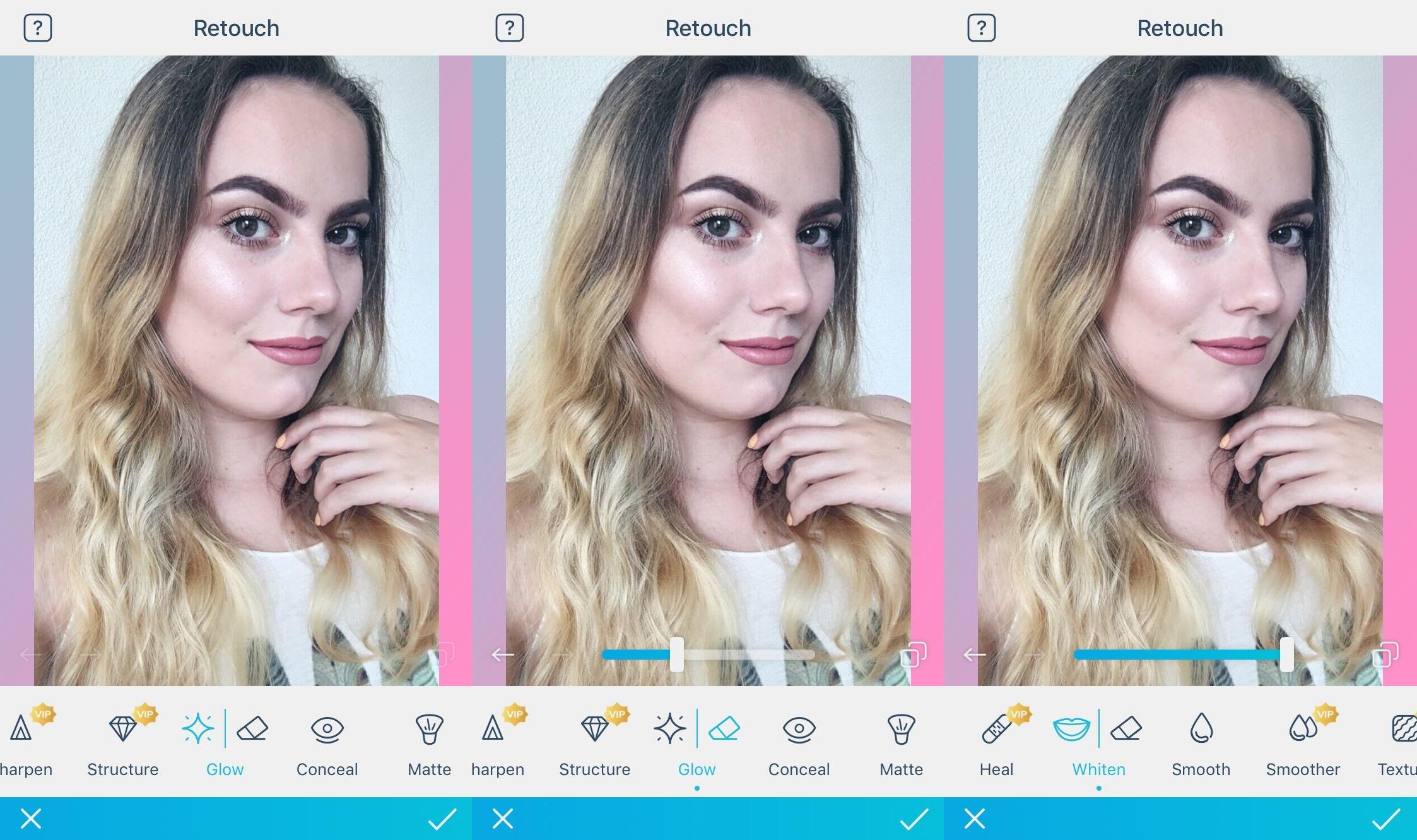 Hoe je make-up foto's bewerkt met de Facetune app