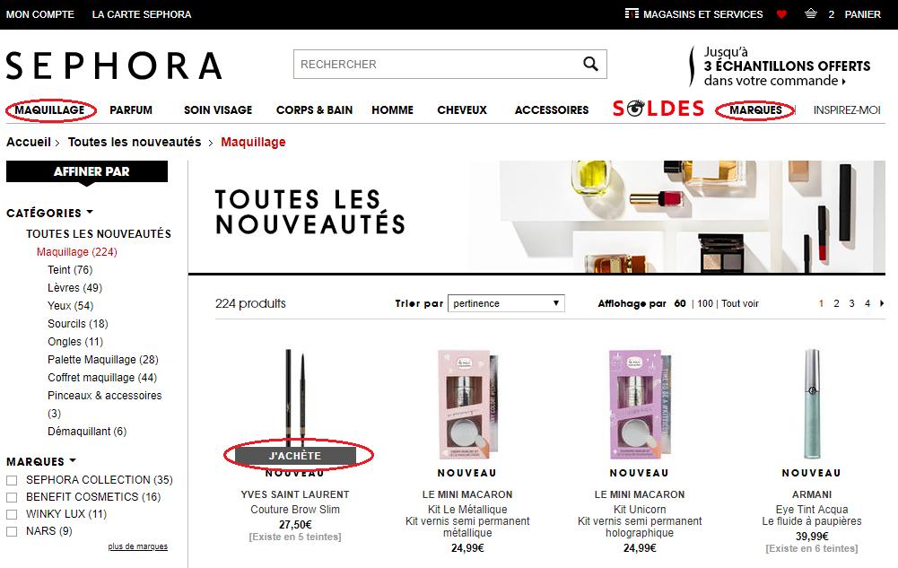 Bestellen bij Sephora vanuit Nederland
